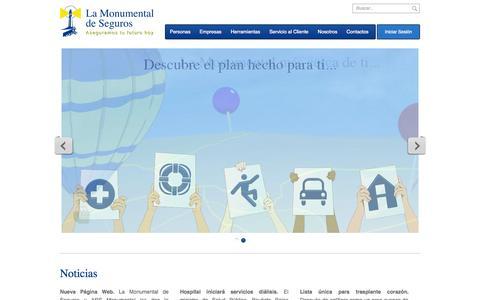 Screenshot of Home Page lamonumental.com.do - La Monumental de Seguros - captured Sept. 18, 2014