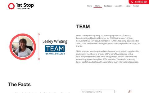 Screenshot of Team Page 1ststoprecruitment.co.uk - TEAM • 1st Stop Recruitment - captured Nov. 19, 2018
