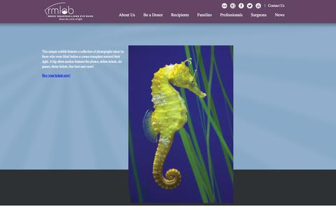 Screenshot of Home Page corneas.org - Corneas Home Page - captured Feb. 17, 2016