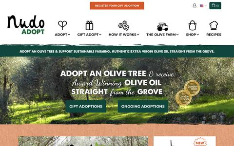 Screenshot of Home Page nudoadopt.com - Adopt an Italian Olive Tree | Nudo Adopt - captured Oct. 18, 2018