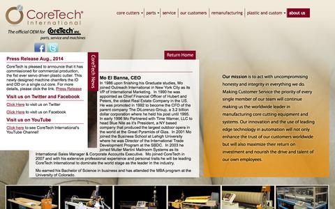 Screenshot of Team Page coretechinternational.com - Coretech   Our Team - captured Sept. 30, 2014