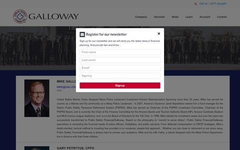Screenshot of About Page galloway911.com - Galloway Asset Management | About Us - captured July 17, 2017