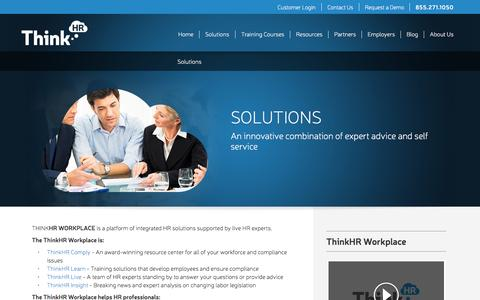 Screenshot of Services Page thinkhr.com - HR Solutions | Human Resources Consulting & Advice - ThinkHR - captured July 3, 2015