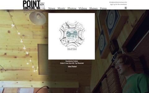 Screenshot of Home Page pointjuncturewa.com - Point Juncture, WA - captured June 2, 2016