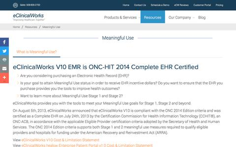 Meaningful Use - eClinicalWorks