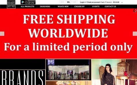 Screenshot of Home Page brandsjustpret.com - BRANDS Just Pret - captured Sept. 30, 2014