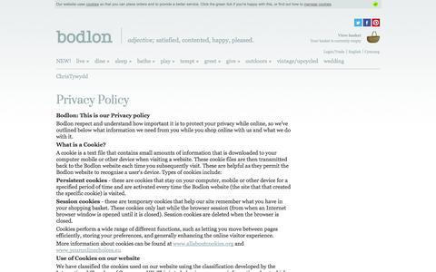Screenshot of Privacy Page bodlon.com - Bodlon Privacy Policy | Bodlon - captured Oct. 29, 2014