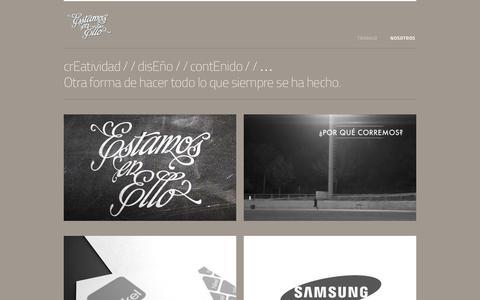 Screenshot of Home Page enello.es - Estamos en ello — Comunicación y Diseño - captured Oct. 3, 2014