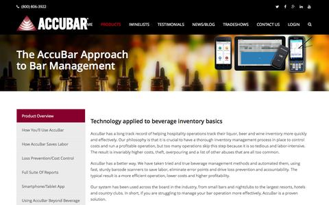 Screenshot of Products Page accubar.com - Liquor Inventory | Bar Inventory | AccuBar Products - captured Feb. 5, 2016