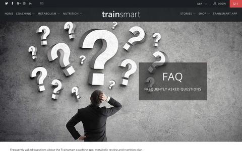 Screenshot of FAQ Page trainsmart.com - FAQ - Trainsmart - captured Oct. 20, 2018