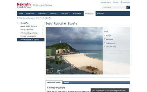 Screenshot of About Page boschrexroth.com - Bosch Rexroth en España, Industria 4.0, industria conectada - Bosch Rexroth España - captured Oct. 10, 2017