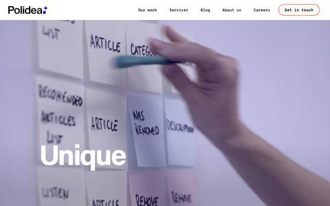 Screenshot of Home Page polidea.com - Polidea | Design and development studio delivering digital products | Polidea - captured June 8, 2019