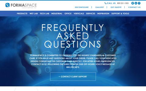Screenshot of FAQ Page formaspace.com - Formaspace Frequently Asked Questions - FAQ | Formaspace - captured Oct. 11, 2018