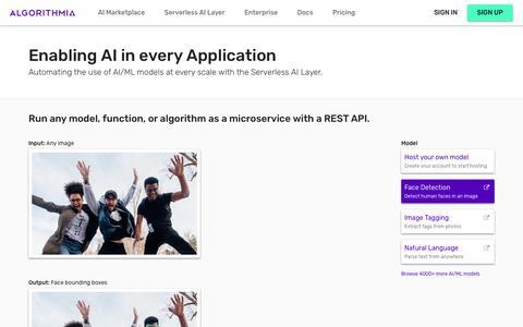 Algorithmia - Open Marketplace for Algorithms
