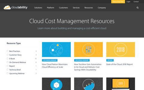 Cloud Cost Management & Efficiency Resources | Cloudability