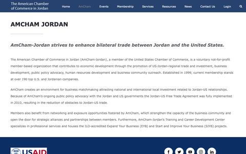 Screenshot of About Page amcham.jo - About Us – The American Chamber of Commerce in Jordan - captured Oct. 3, 2018
