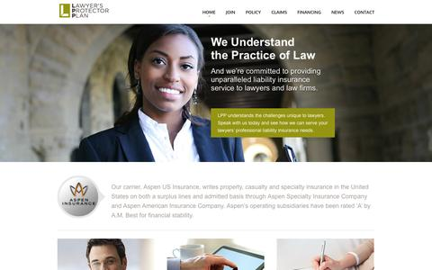 Screenshot of Home Page lppinsurance.com - Lawyer's Protector Plan - captured Oct. 2, 2014