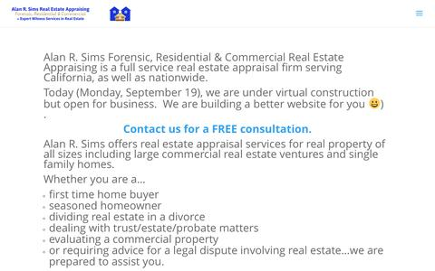 Alan R. Sims Real Estate Appraising | Commercial, Residential, Forensic + Expert Witness Services