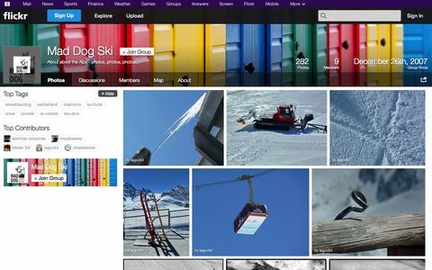 Screenshot of Flickr Page flickr.com - Flickr: The Mad Dog Ski Pool - captured Oct. 29, 2014