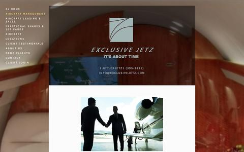 Screenshot of Team Page exclusivejetz.com - Aircraft Management — Exclusive Jetz - captured Oct. 27, 2014