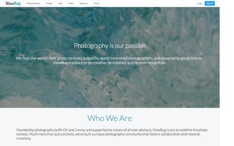 Screenshot of About Page viewbug.com - About Us - ViewBug.com - captured Sept. 18, 2014