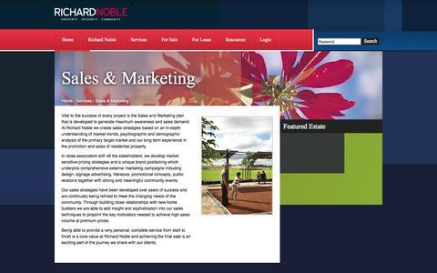 Screenshot of Services Page rnoble.com.au - Richard Noble - Sales & Marketing - captured Oct. 26, 2014