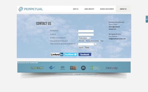 Screenshot of Contact Page perpetual-europe.com - Contact Us - captured Oct. 2, 2014