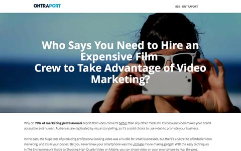 Screenshot of Landing Page ontraport.com - The Entrepreneur's Mobile Video Guide | ONTRAPORT - captured Jan. 14, 2017