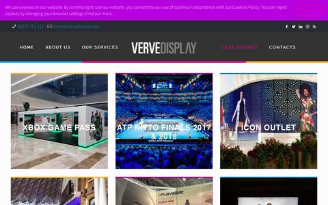 Screenshot of Case Studies Page vervedisplay.com - Case Studies • Verve Display - captured Dec. 20, 2018