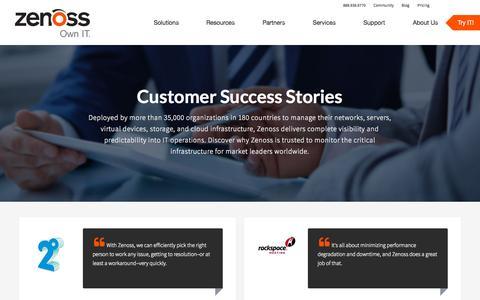 Screenshot of Case Studies Page zenoss.com - Zenoss   Case Studies - captured Sept. 29, 2015