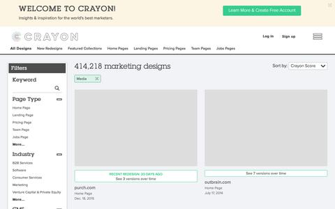 Screenshot of Press Page crayon.co - Media pages | Website Inspiration and Examples | Crayon - captured Jan. 7, 2016