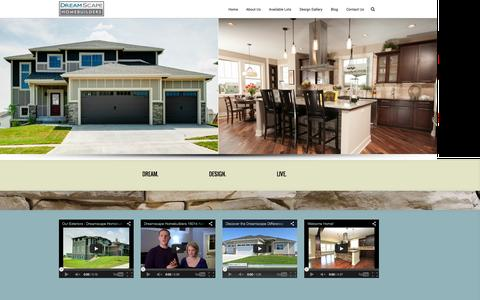 Screenshot of Home Page dreamscapehomebuilders.com - Dreamscape Homebuilders - Des Moines Custom Home BuilderDreamscape Homebuilders - captured Sept. 30, 2014
