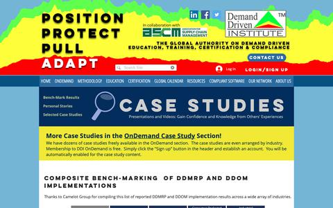 Screenshot of Case Studies Page demanddriveninstitute.com - Demand Driven Case Studies - captured Nov. 13, 2018