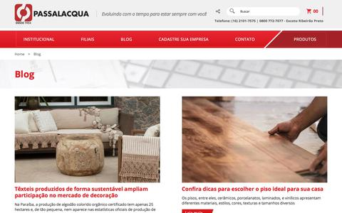 Screenshot of Blog passalacqua.com.br - Blog - Passalacqua - captured Sept. 23, 2018