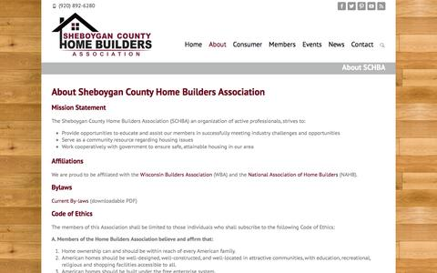 Screenshot of About Page schba.org - Helping Builders & Consumers   Sheboygan County Home Builders Association - captured Dec. 3, 2016