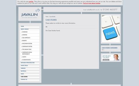 Screenshot of Case Studies Page javalin.co.uk - Javalin: Case Studies - captured Oct. 6, 2014