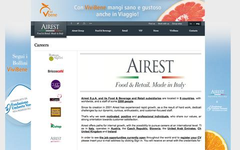 Screenshot of Jobs Page airest.com - Airest - Careers - captured Oct. 4, 2014