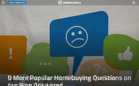Screenshot of Blog zipmatch.com - ZipMatch Blog: Latest in the Philippine Real Estate Market - captured Oct. 21, 2015