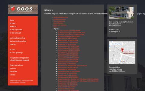 Screenshot of Site Map Page goos.nl - Sitemap - captured Aug. 29, 2017