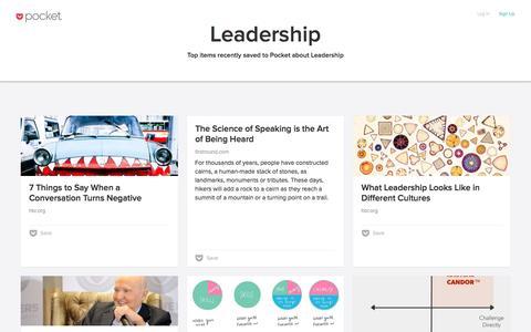 Pocket: Leadership