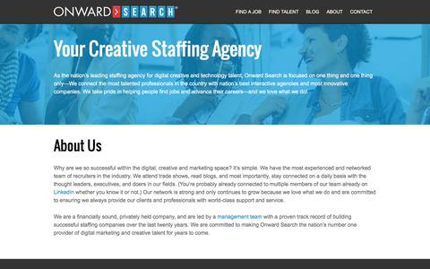 About Onward Search | Creative Staffing Agency