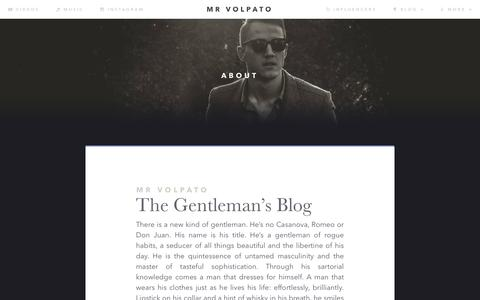 Screenshot of About Page mrvolpato.com - ABOUT - captured Jan. 5, 2017