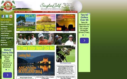 Screenshot of Home Page singlesgolf.com - American Singles Golf Association - captured Oct. 10, 2015