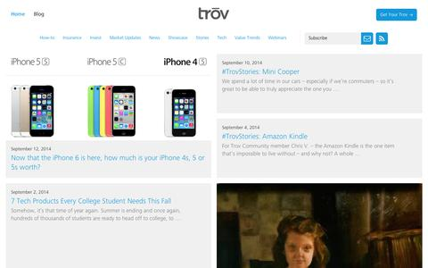 Screenshot of Blog trov.com - The Trov Blog   | Trōv - captured Sept. 17, 2014