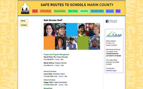 Screenshot of Contact Page saferoutestoschools.org - How to Reach Safe Routes Staff - captured Oct. 4, 2014