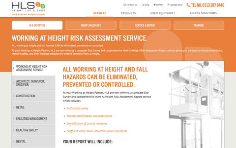 Screenshot of Services Page hls.co - Working At Height Risk Assessment Service - captured Nov. 6, 2016