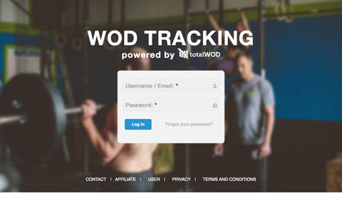Screenshot of Home Page totalwod.com - User account | Total WOD - captured Jan. 26, 2015