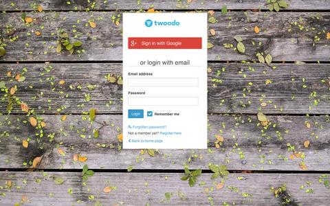Screenshot of Login Page twoodo.com - Login | Twoodo - captured Jan. 27, 2016