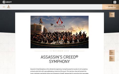 Screenshot of Press Page ubisoft.com - Assassin's Creed® Symphony - captured Nov. 8, 2019