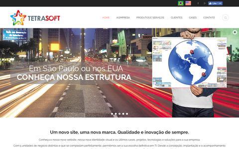 Screenshot of Home Page tetrasoft.com.br - Tetrasoft | A sua agência definitiva em TI - captured Sept. 23, 2017